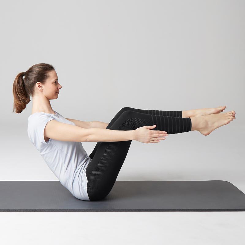 6a43a1dec4254 560 Women's Slim-Fit Pilates & Gentle Gym Leggings - Black Dot Print