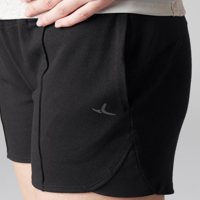 Sporthose kurz 520 Gym Stretching Damen schwarz