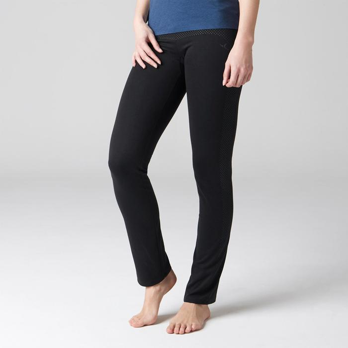 Legging 900 regular Gym Stretching & Pilates Femme noir - 1489695