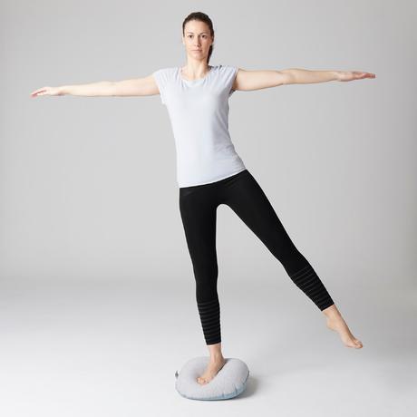 9e85c445450ad3 560 Women's Slim-Fit Pilates & Gentle Gym Leggings - Black Dot Print.  Previous. Next