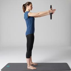 Legging 7/8 560 slim Pilates Gym douce femme noir print dots