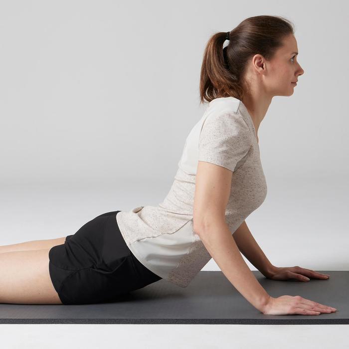 Short 520 Gym Stretching femme rose clair chiné - 1489744
