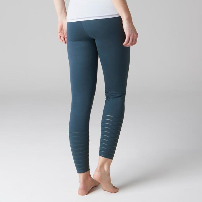 Legging 900 slim Gym Stretching & Pilates femme bleu