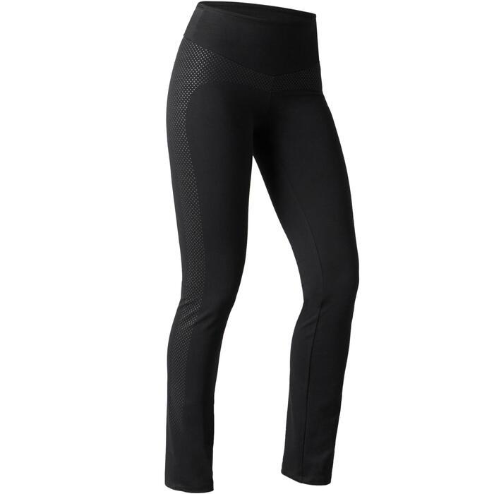 Legging 900 regular Gym Stretching & Pilates Femme noir - 1489749