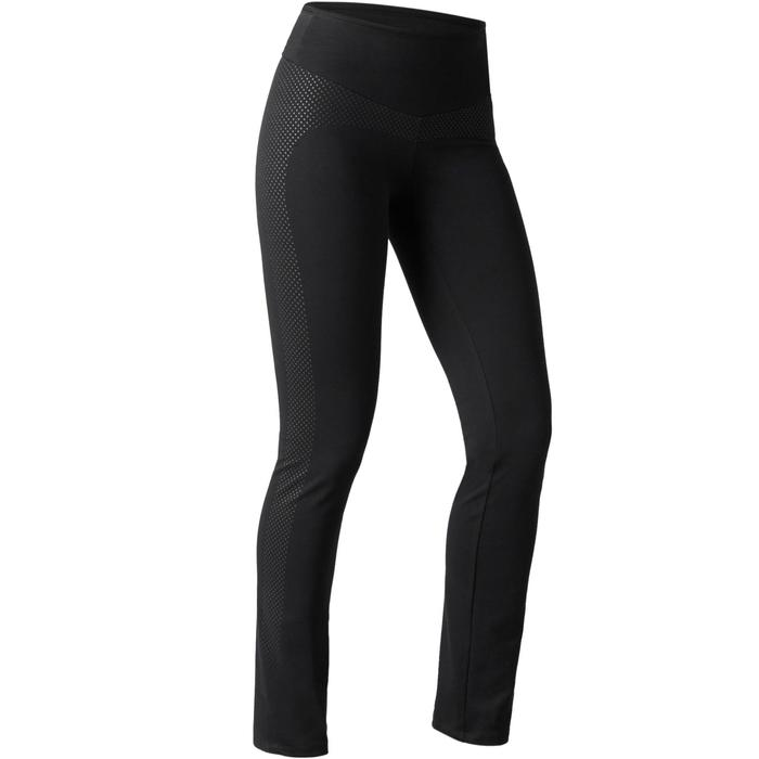 Legging 900 regular Gym Stretching & Pilates Femme noir