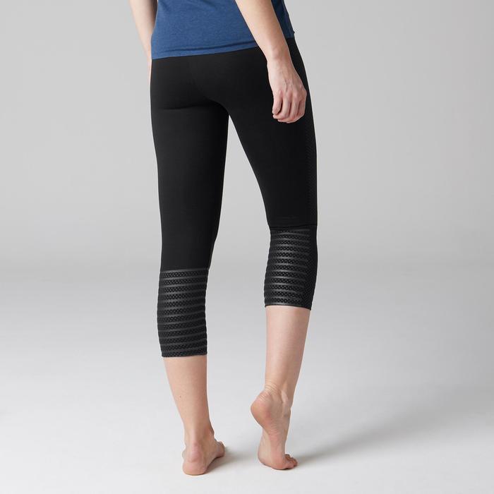 Legging 7/8 900 slim Gym Stretching & Pilates femme noir - 1489752