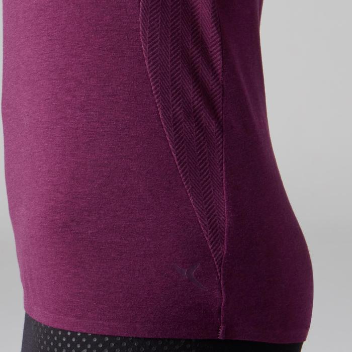 Camiseta De Manga Corta Gimnasia Y Pilates Domyos 900 Mujer Violeta