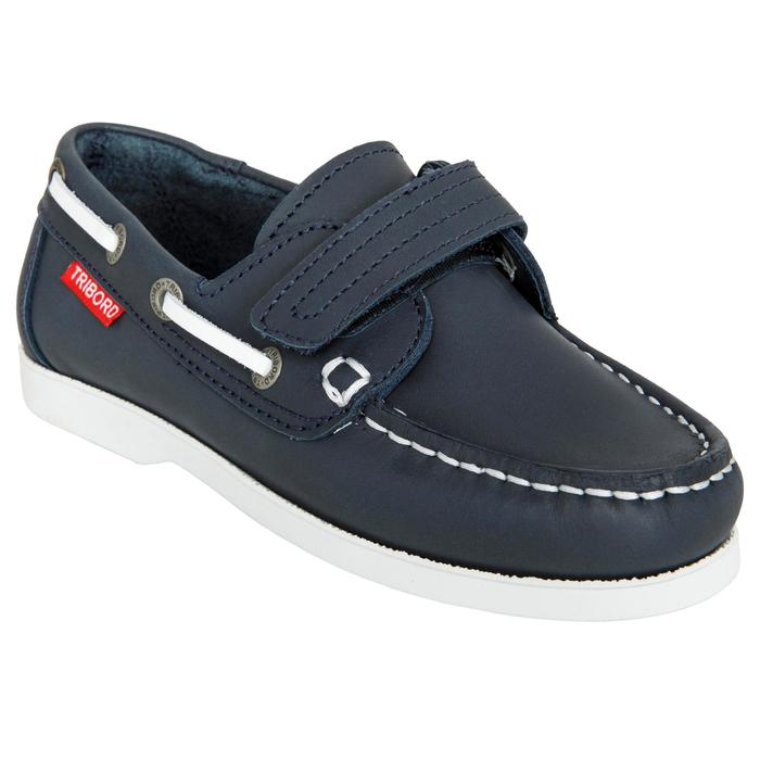 Chaussures bateau cuir enfant Cruise 500 marron - 1489969