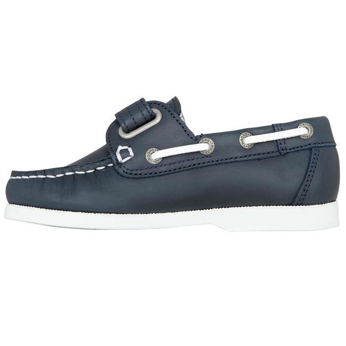 Chaussures bateau cuir enfant Cruise 500 marron - 1489970