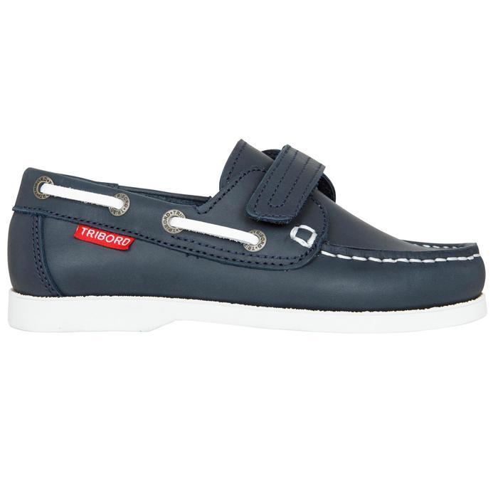 Chaussures bateau cuir enfant Cruise 500 marron - 1489971