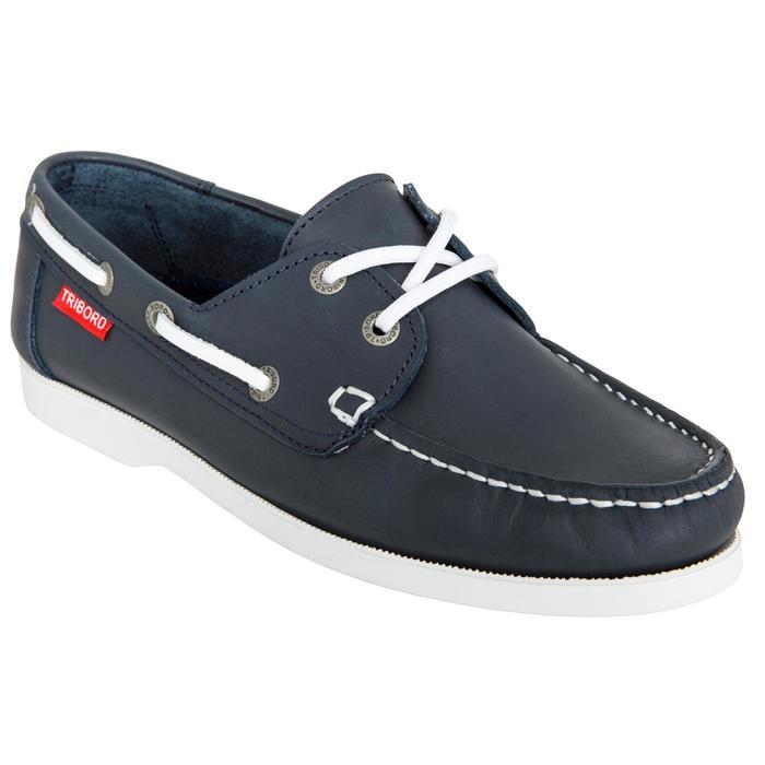 Chaussures bateau cuir enfant Cruise 500 marron - 1489973