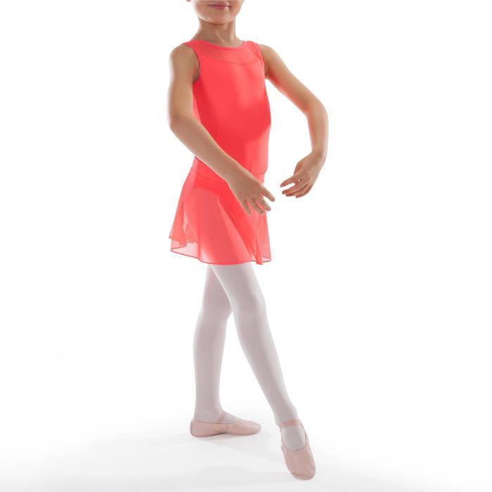 Faldita de danza clásica de gasa niña coral