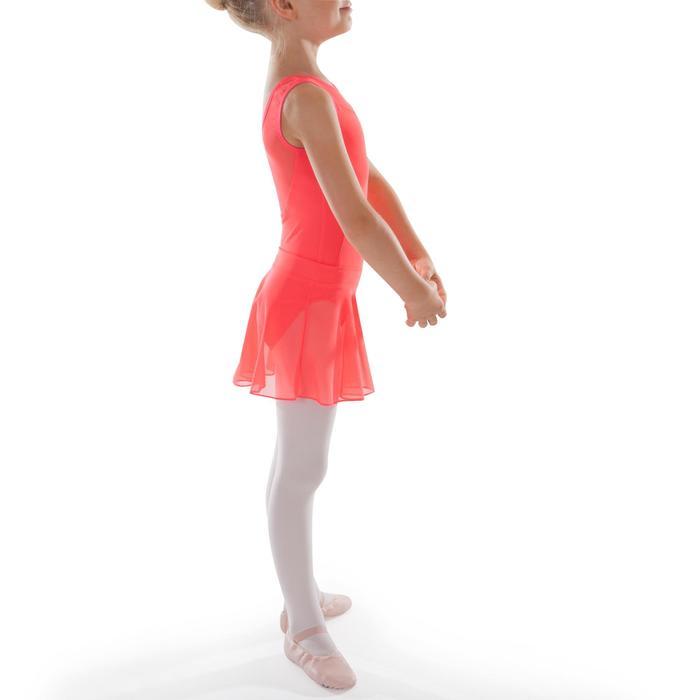 Jupette de danse classique en voile fille corail
