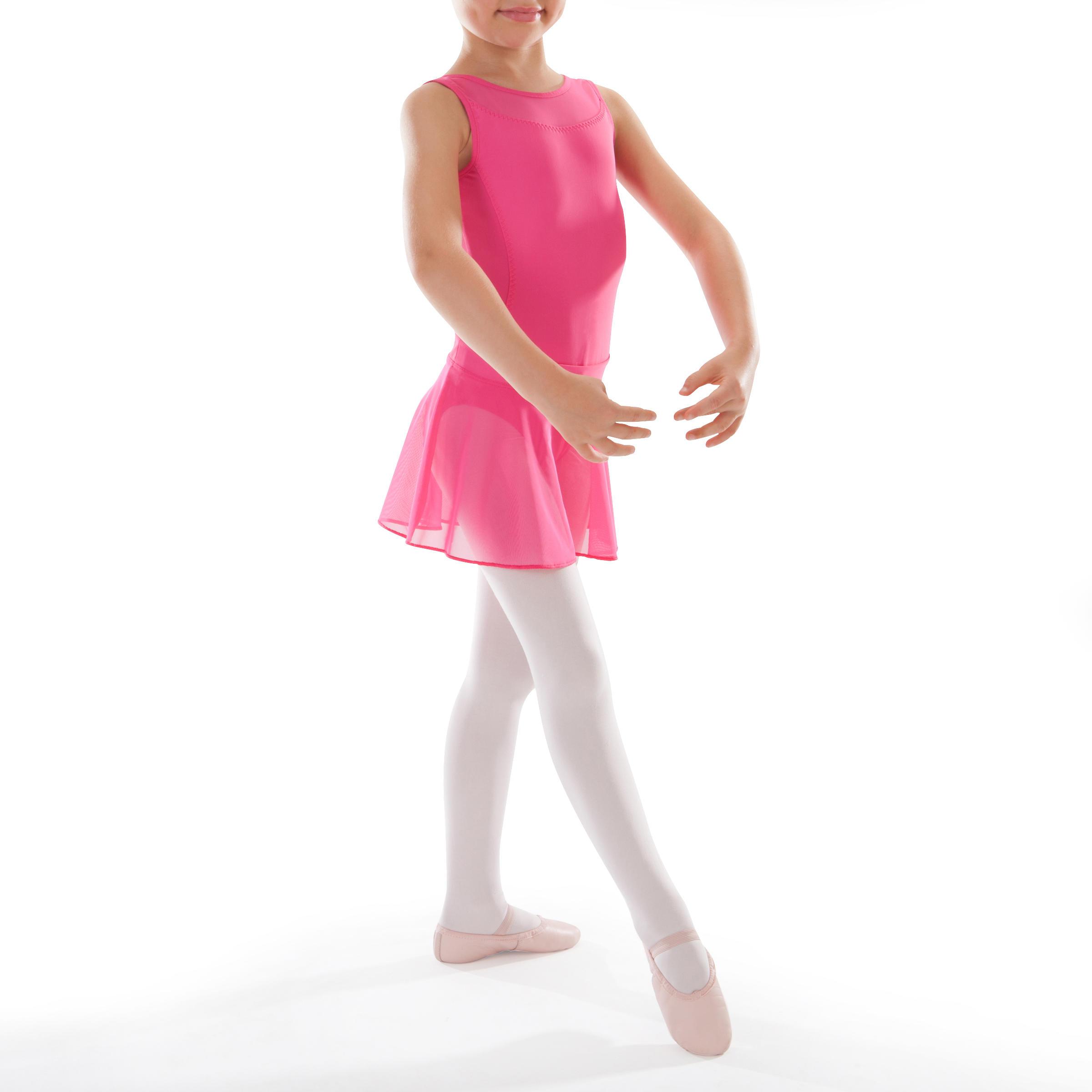 Faldita de danza clásica de gasa color fucsia para niña