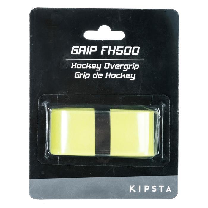 Cubregrip de hockey sobre hierba gamuza FH500 amarillo