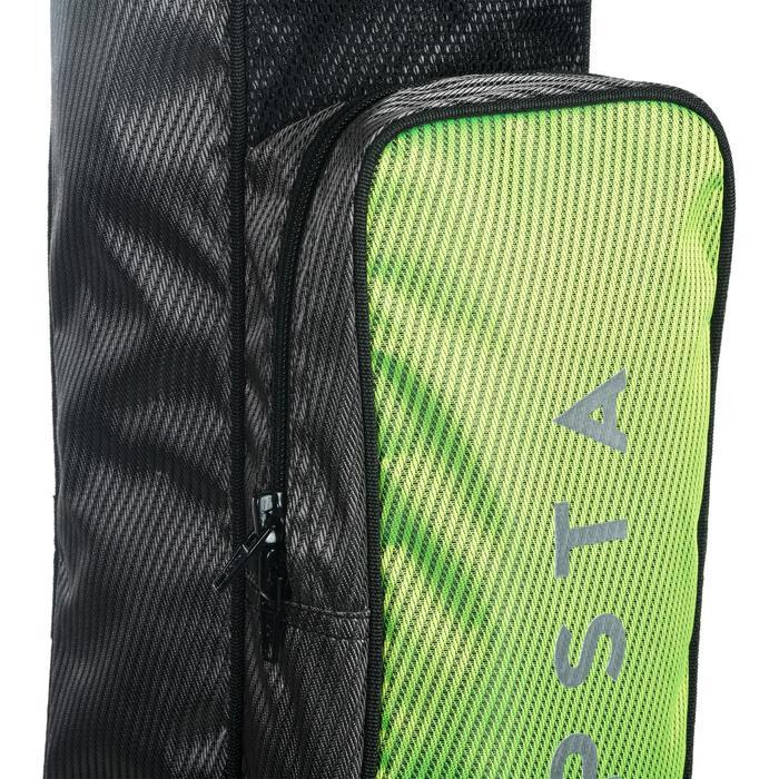 Tas voor hockey middelgroot FH100 grijs en geel