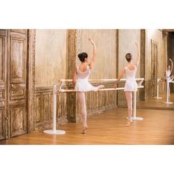 Faldita de danza clásica de gasa niña blanca