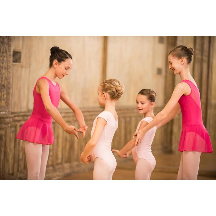 Faldita de danza clásica de gasa niña fucsia