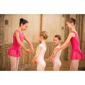 Maillot de manga corta danza clásica niña rosa