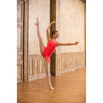 Balletrokje in voile voor meisjes koraal