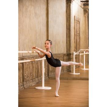 Balletpakje in twee stoffen voor meisjes zwart