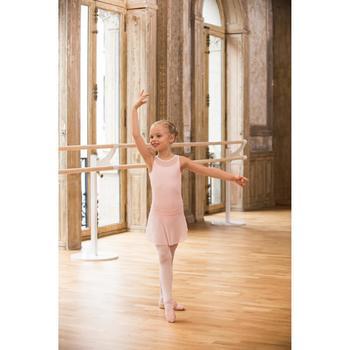 Ballettschuhe Halbspitze Leder rosa