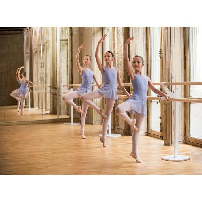 Balletrokje in voile voor meisjes zachtpaars