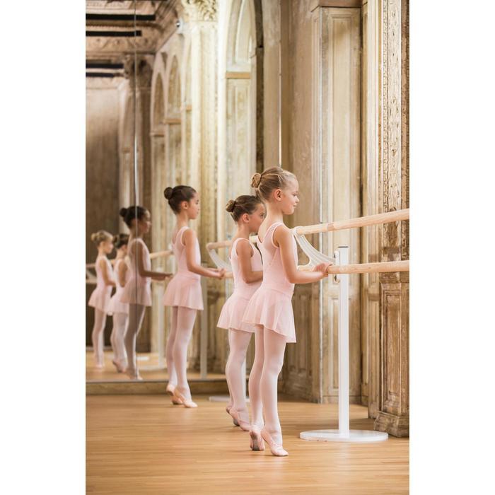 Girls' Mixed Media Ballet Leotard - Pink