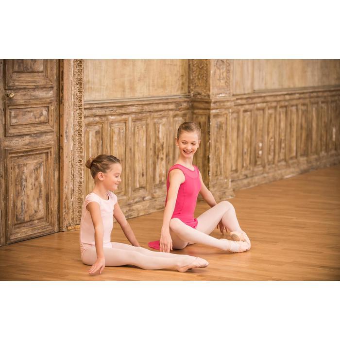 Balletrokje in voile voor meisjes fuchsia