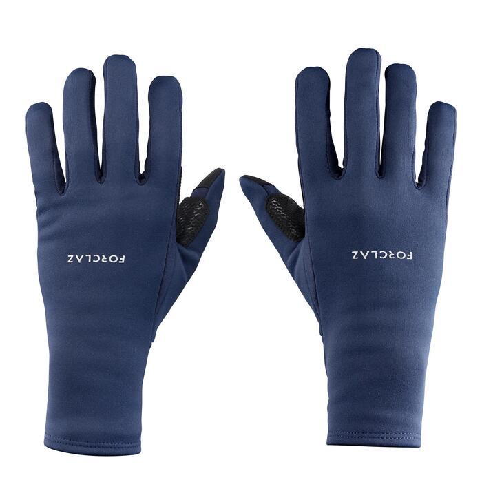 成人登山健行手套Trek 500-軍藍色