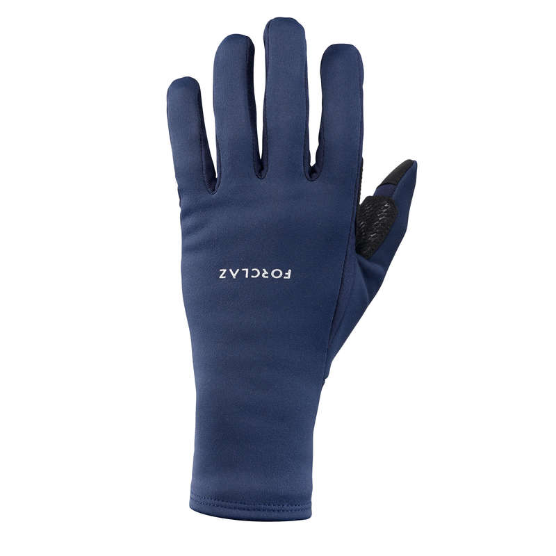 GLOVES, UNDERGLOVES, MITTENS HIKING/TREK Trekking - A Gloves TREK G500 - NAVY BLUE FORCLAZ - Trekking