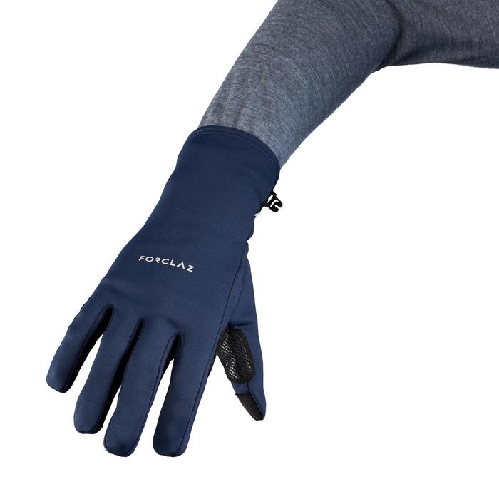 Handschoenen voor bergtrekking volwassenen Trek 500 marineblauw