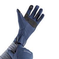 Trek 500 Adult Mountain Trekking Gloves - Navy Blue