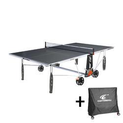 Tafeltennistafel outdoor 250S Crossover grijs met hoes