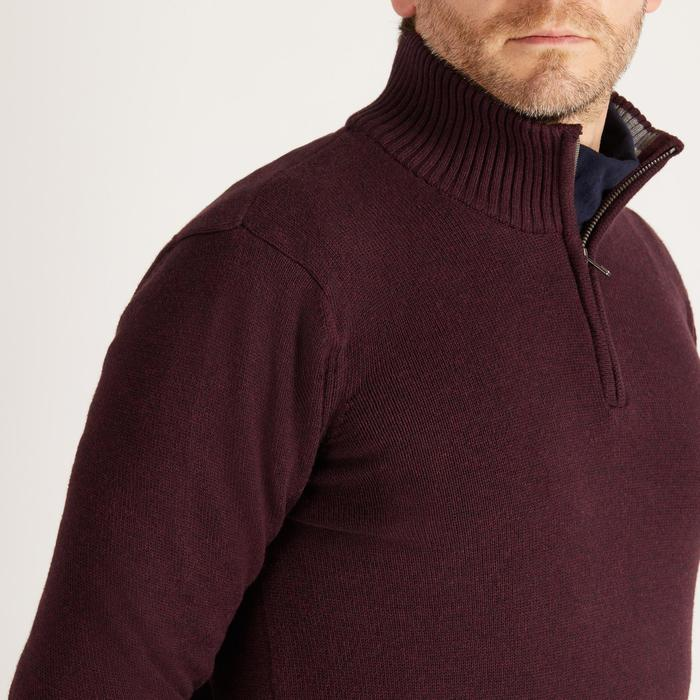 MEN'S BURGUNDY COLD-WEATHER GOLFING PULLOVER