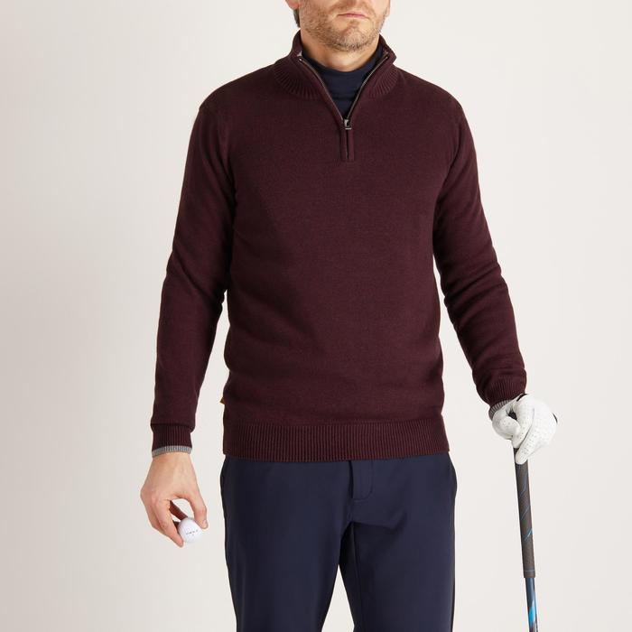 MEN'S NAVY COLD-WEATHER GOLFING PULLOVER - 1490326