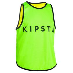 CHASUBLE RUGBY R500 Réversible Jaune Vert
