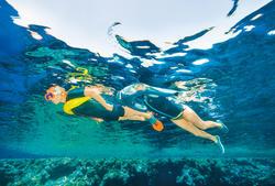 Bouée de flottaison de snorkeling 100 jaune