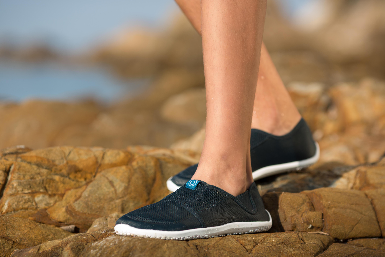 Chaussures aquatiques 120 adulte turquoises foncées
