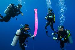 Pendanda permukaan selam SCUBA SCD pink terang