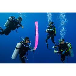 Dekompressionsboje Signalboje für Gerätetaucher SCD neon-rosa