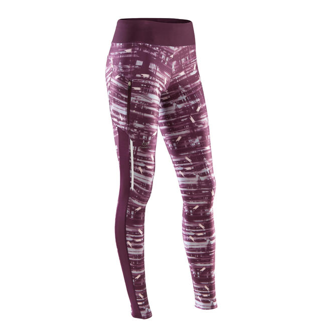RUN DRY+ WOMEN'S JOGGING TIGHTS BURGUNDY