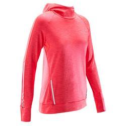 Langarmshirt Run Warm Hood Damen koralle