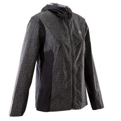 VESTE JOGGING FEMME RUN RAIN NOIRE NIGHT