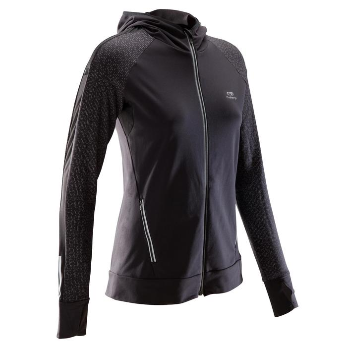 Laufjacke Run Warm Night Damen schwarz gemustert