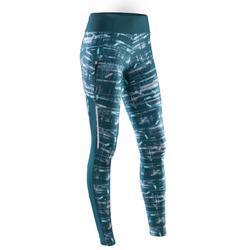 Lange loopbroek voor dames Run Dry+ groen