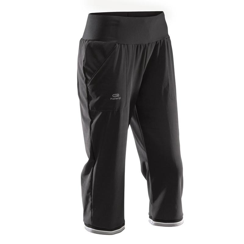 Run Dry Women's Running Cropped Trousers - Black