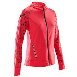 Laufjacke Warm Hood Run Damen koralle
