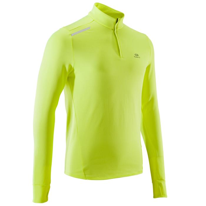 TEE SHIRT MANCHES LONGUES RUNNING HOMME RUN WARM JAUNE