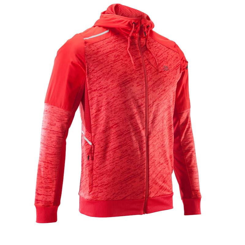 REGULAR MAN JOGGING COLD WTHR CLOTHES Clothing - RUN WARM+ JACKET POCKET - red KALENJI - Tops